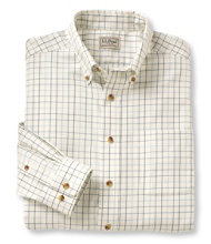 Men's Wrinkle-Free Twill Sport Shirt, Traditional Fit Windowpane