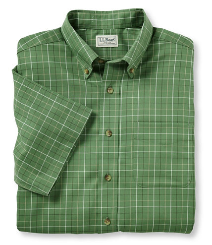 Wrinkle free twill sport shirt traditional fit short for Ll bean wrinkle resistant shirts