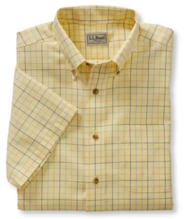 Wrinkle-Free Twill Sport Shirt, Traditional Fit Short-Sleeve Windowpane