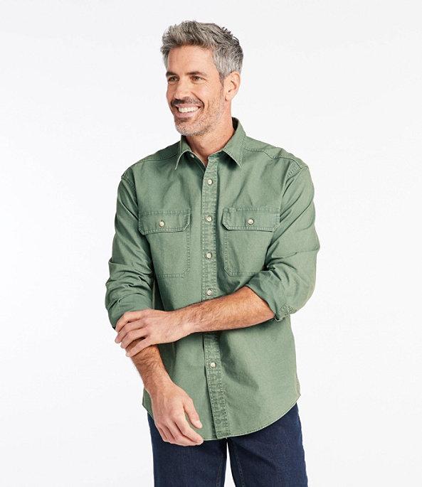 Sunwashed Canvas Shirt Long Sleeve Traditional Fit, , large image number 1