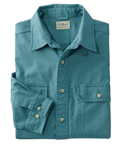 Men's Sunwashed Canvas Shirt, Traditional Fit