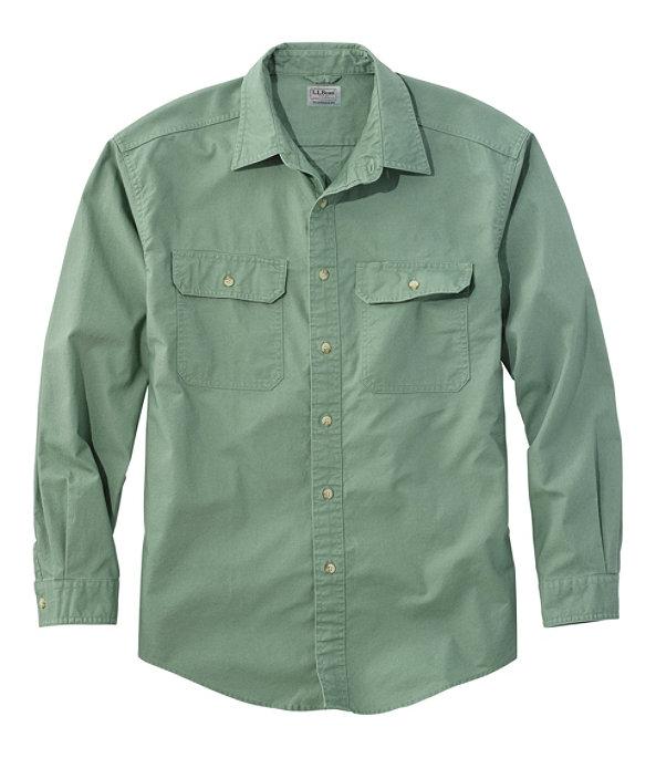 Sunwashed Canvas Shirt Long Sleeve Traditional Fit, , large image number 0
