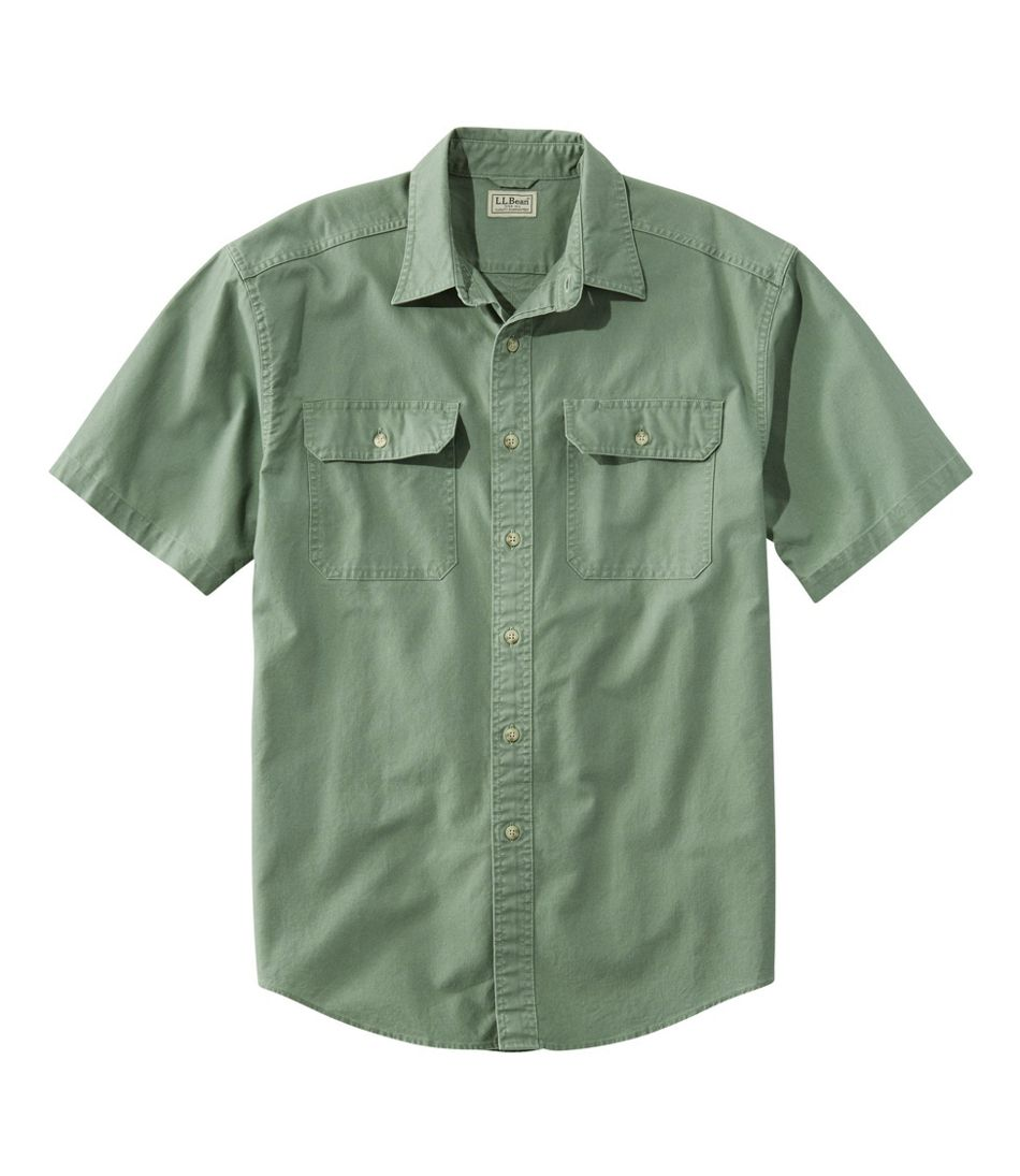 Sunwashed Canvas Shirt, Traditional Fit Short-Sleeve