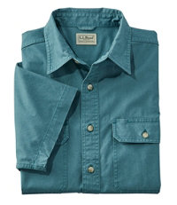 Men's Sunwashed Canvas Shirt, Short-Sleeve