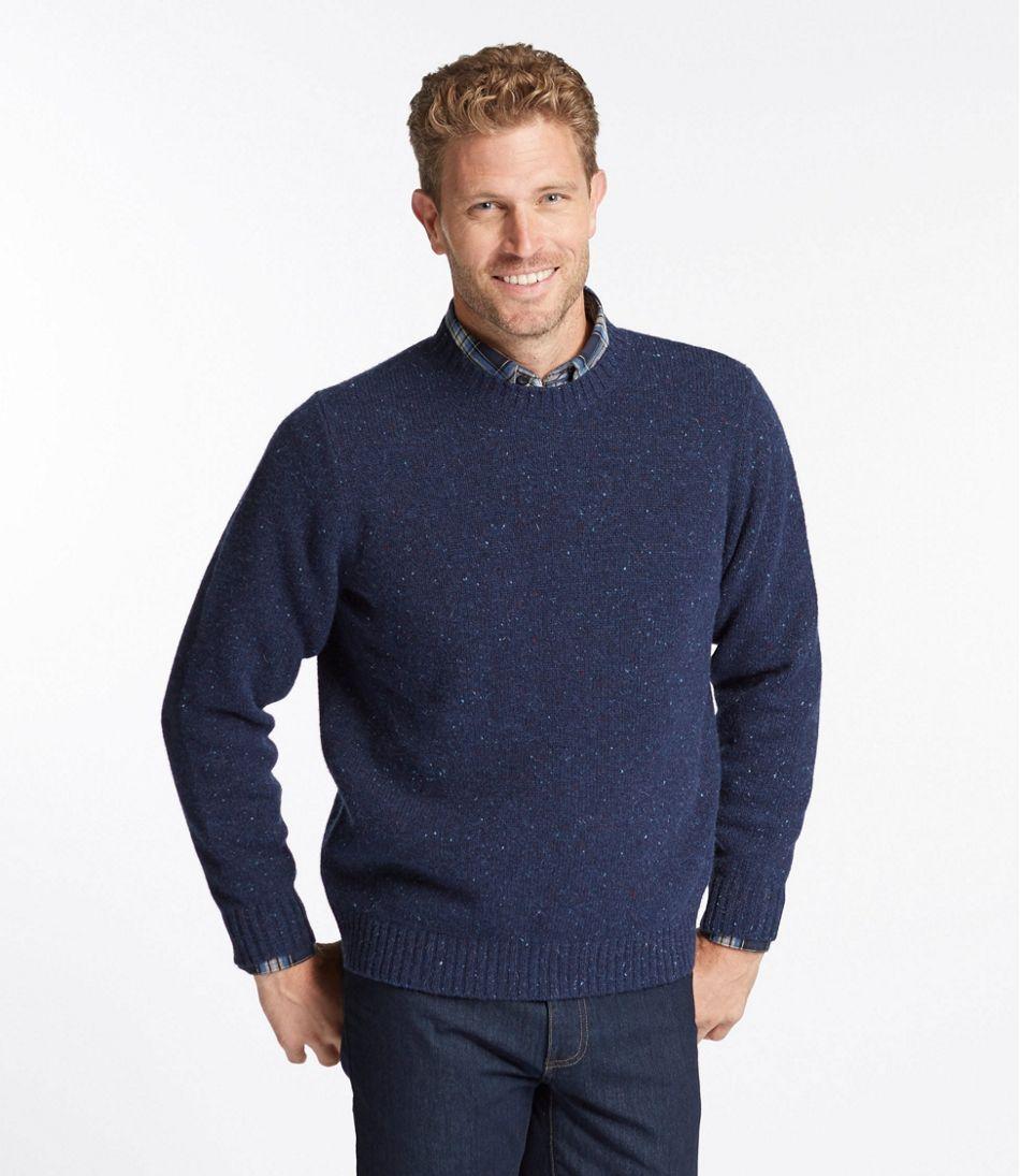 Men's Shetland Wool Sweater, Crew