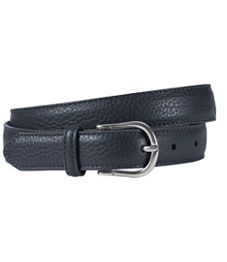 Women's Pebbled-Leather Belt