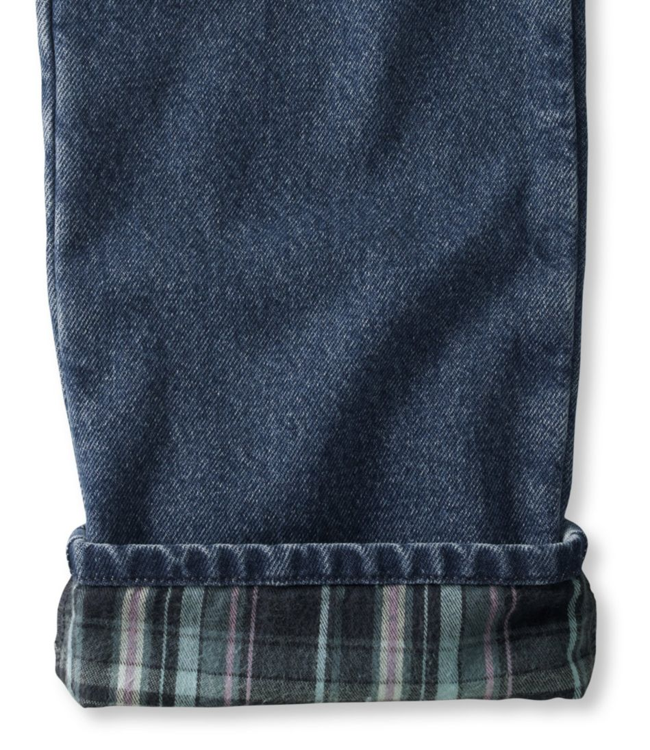 Double L® Jeans, Straight-Leg Flannel-Lined