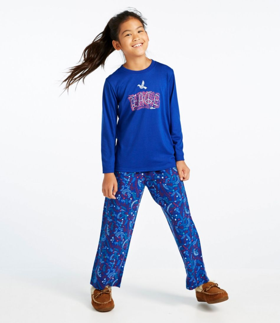 Kids' L.L.Bean Flannel PJs, Tee and Pants Set