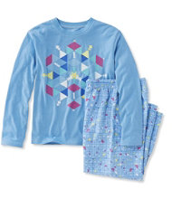 Kids' L.L.Bean Flannel PJs, Tee and Pants Set