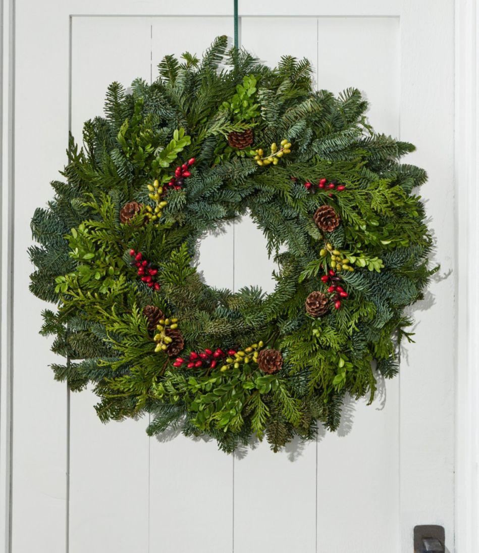 "Woodland Berry Wreath, 24"""