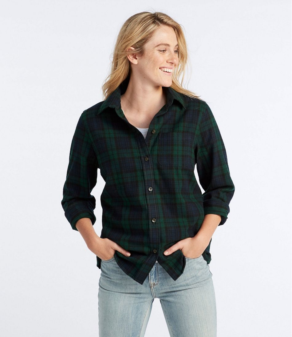 9098ace6354bc Women s Scotch Plaid Flannel Shirt