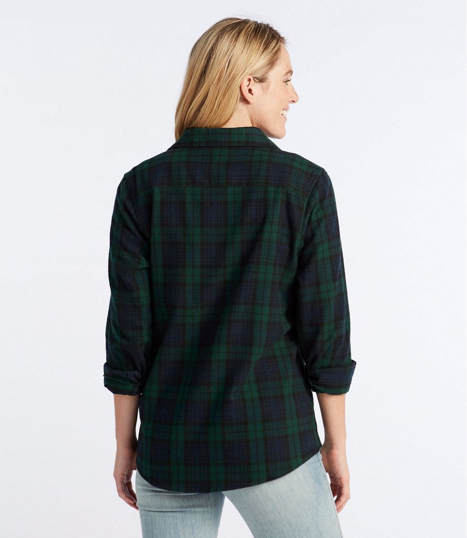 Women's Scotch Plaid Flannel Shirt, Relaxed