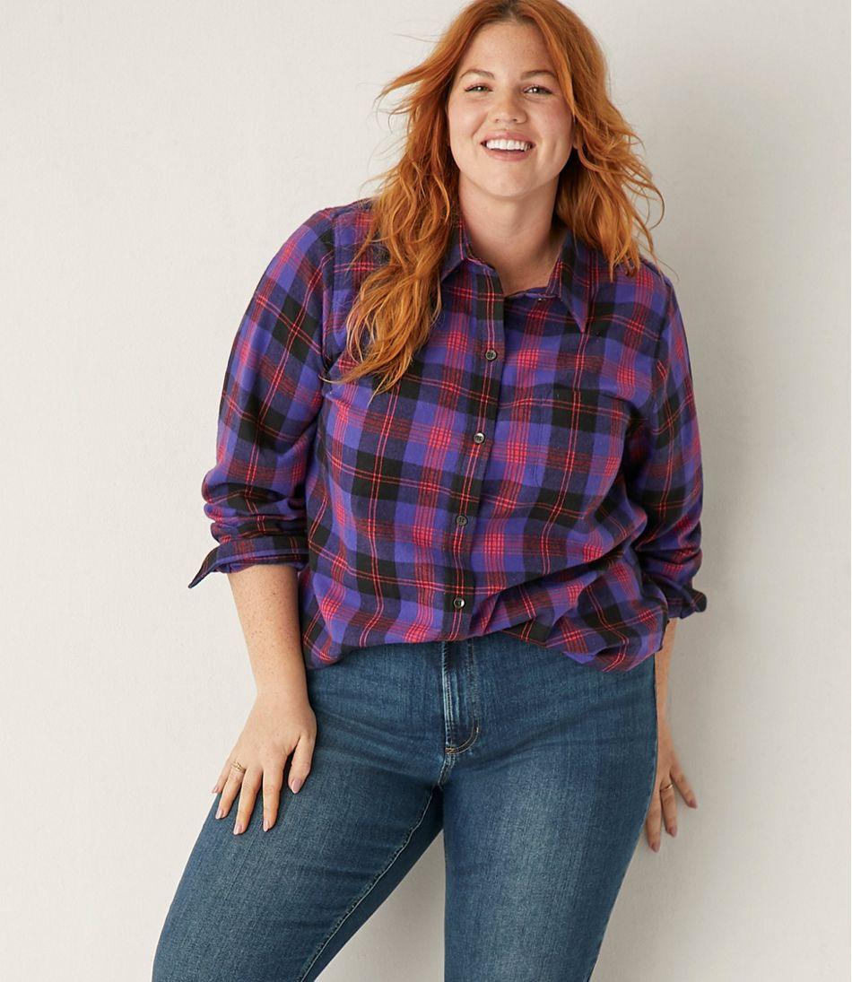 Women's Scotch Plaid Flannel Shirt, Relaxed