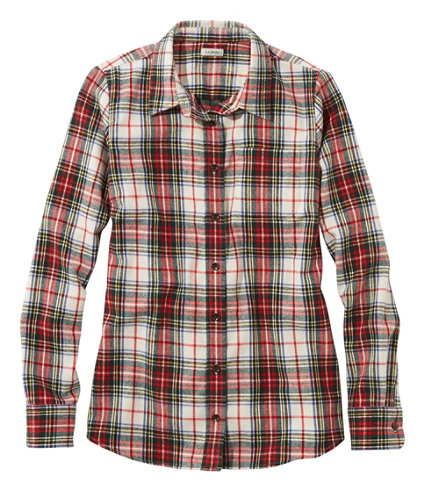 Women 39 s scotch plaid shirt relaxed for Womens green checked shirt