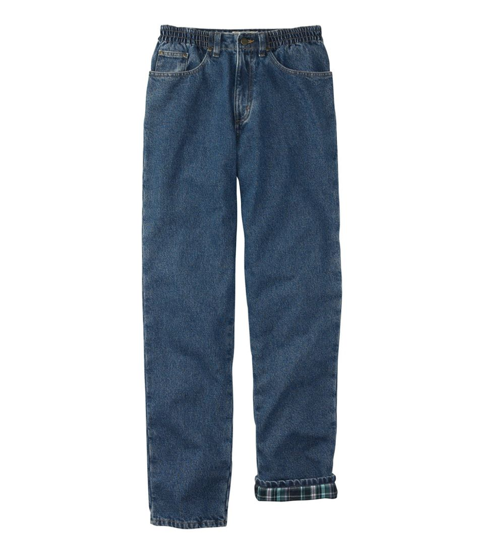 Double L® Jeans, Relaxed Comfort Waist Flannel-Lined