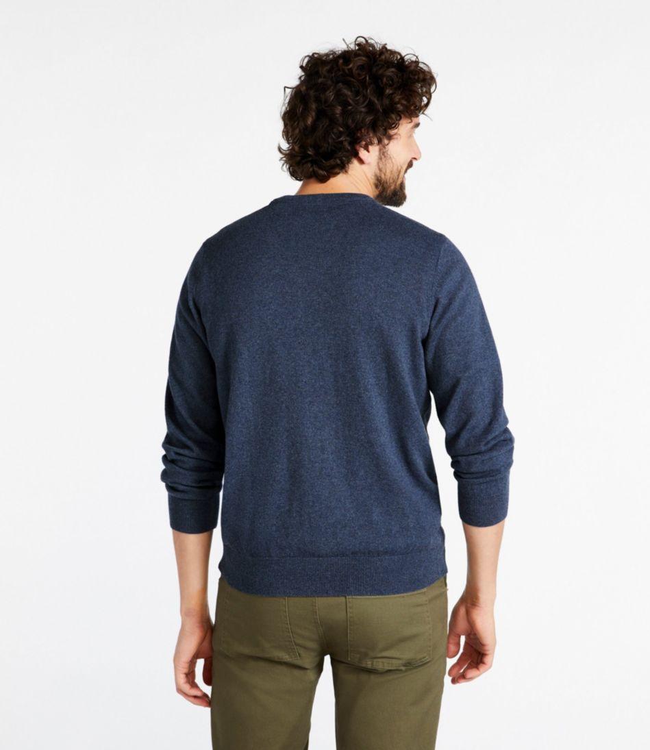 Men's Cotton/Cashmere Sweater, V-Neck