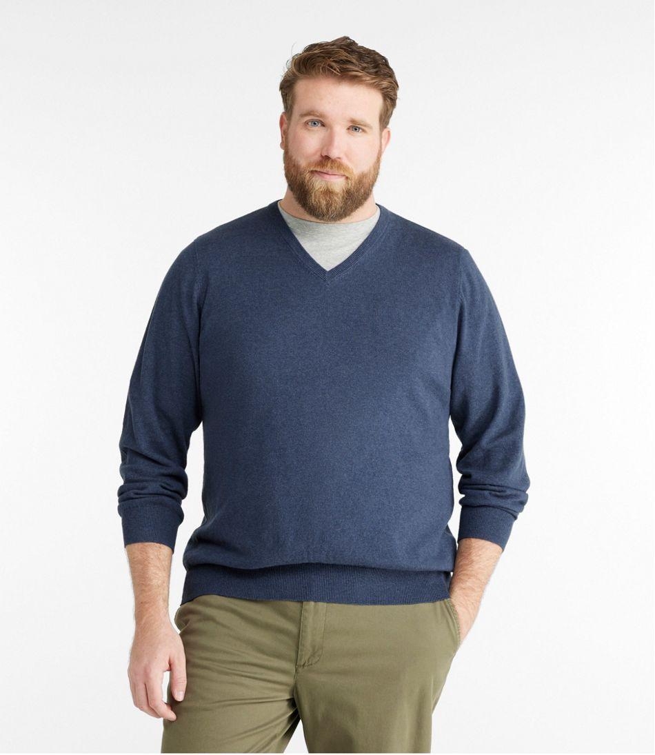 Cotton/Cashmere Sweater, V-Neck