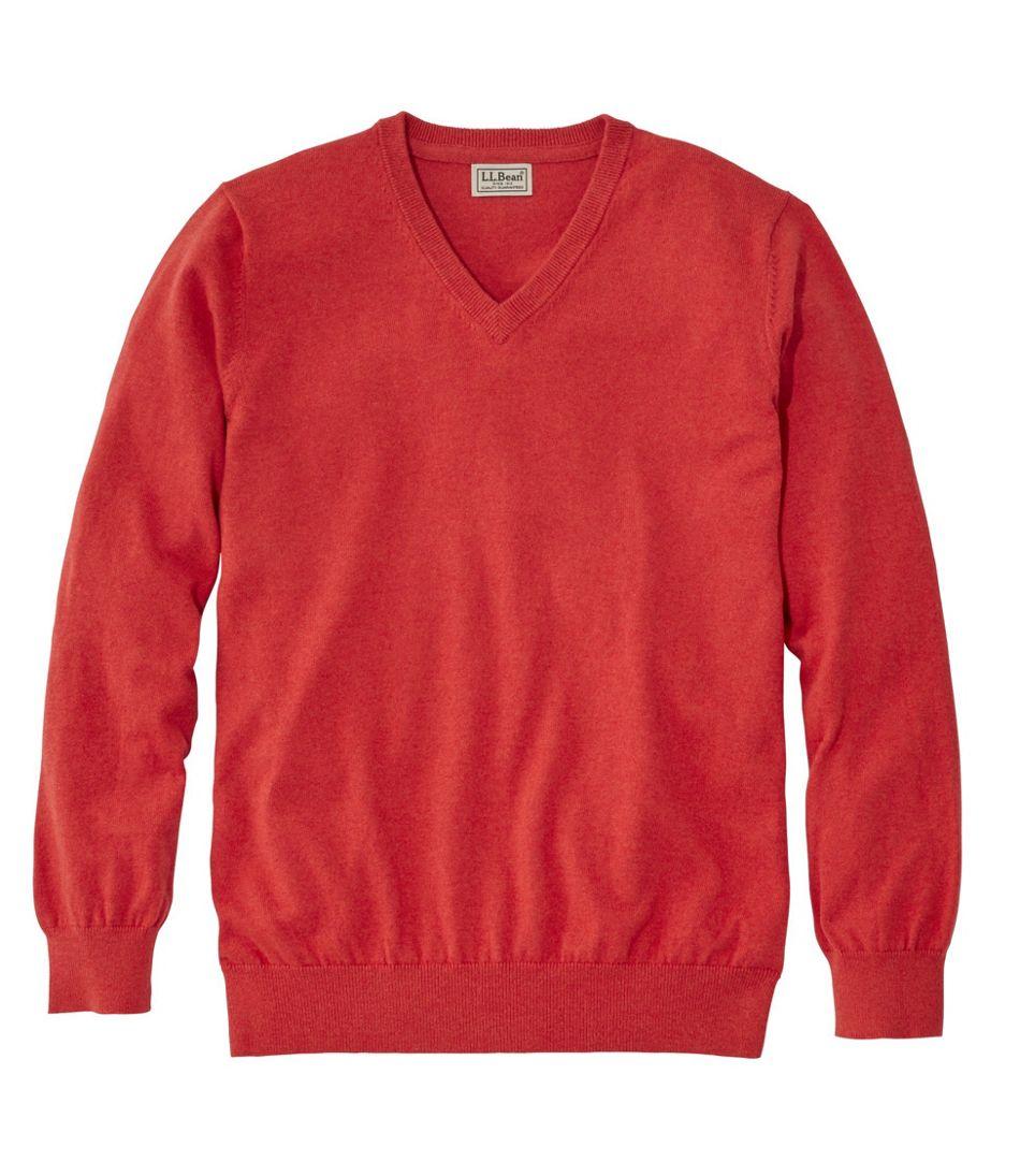 Mens Cottoncashmere Sweater V Neck