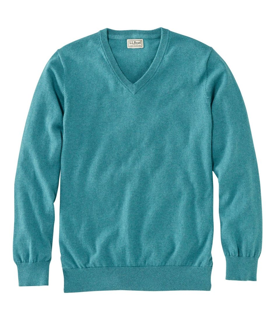 Men's Cotton/Cashmere Sweater, V-Neck