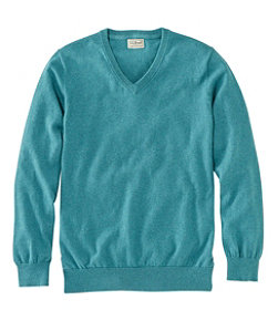 Cotton/Cashmere Sweater, V-Neck