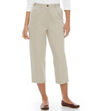 Wrinkle-Free Bayside Pants, Cropped Original Fit Hidden Comfort Waist