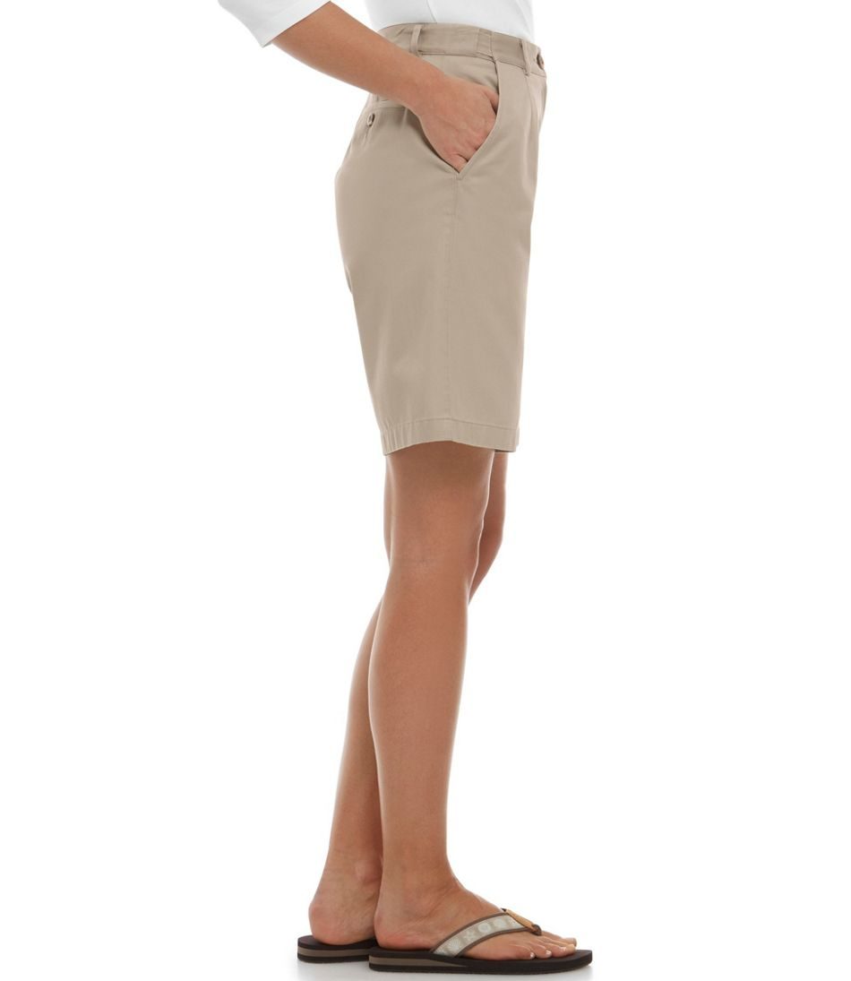 "Women's Wrinkle-Free Bayside Shorts, Original Fit Hidden Comfort Waist 9"""