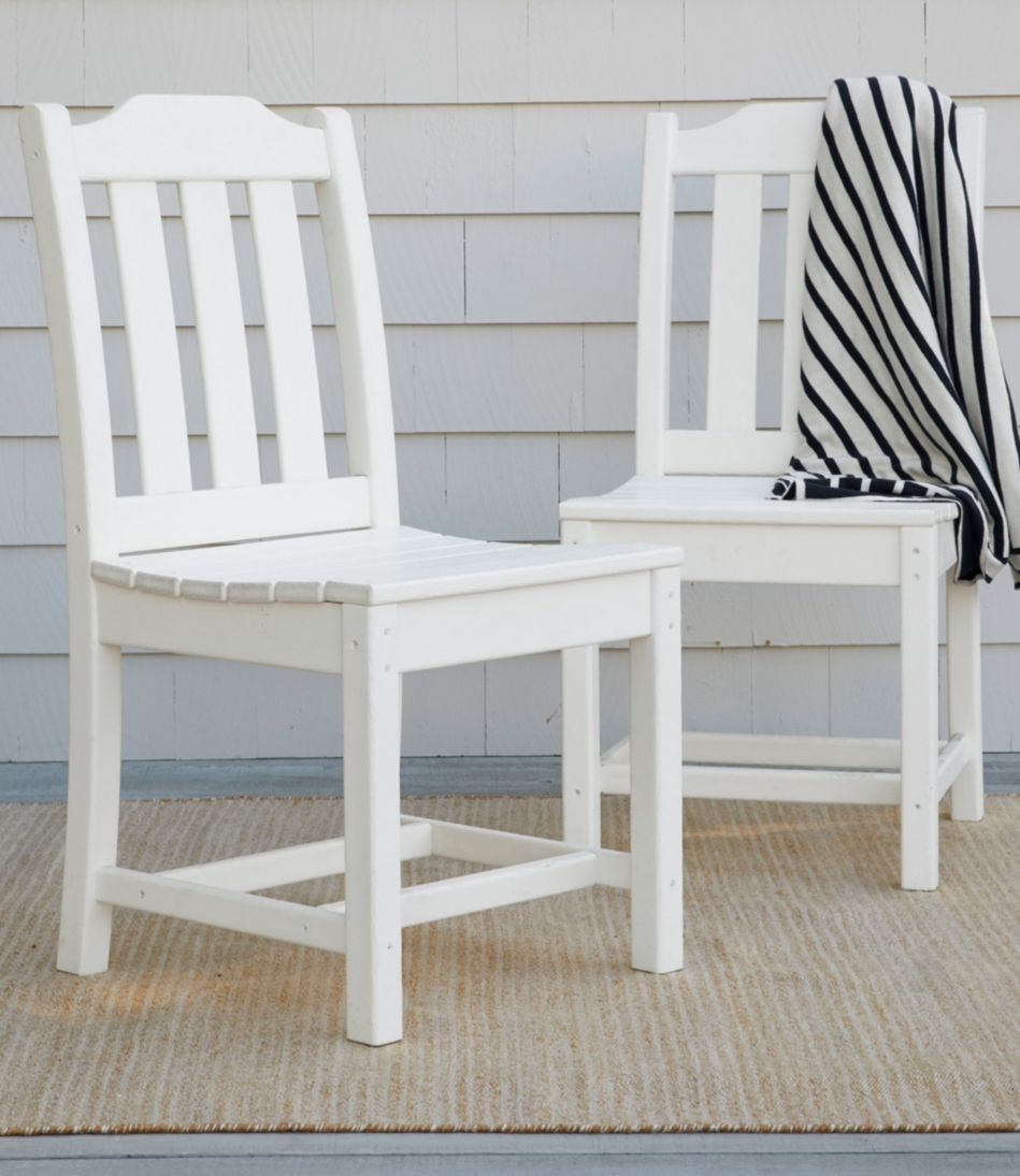 All-Weather Armless Dining Chair, Set of Two