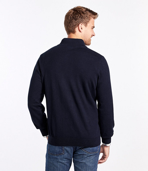 Men's Cotton Cashmere Quarter-Zip Sweater, , large image number 2