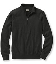 Cotton/Cashmere Sweater, Quarter-Zip