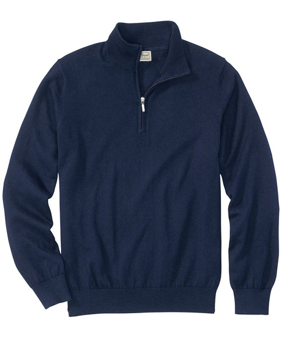 Men's Cotton Cashmere Quarter-Zip Sweater, , large image number 0