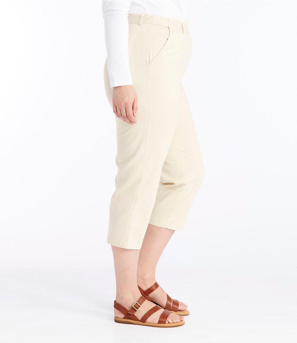 Women's Wrinkle-Free Bayside Pants, Cropped Original Fit Hidden Comfort Waist
