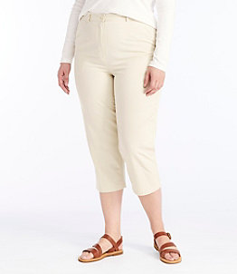 Women's Wrinkle-Free Bayside Pants, Cropped Original Fit Hidden Comfort Waist