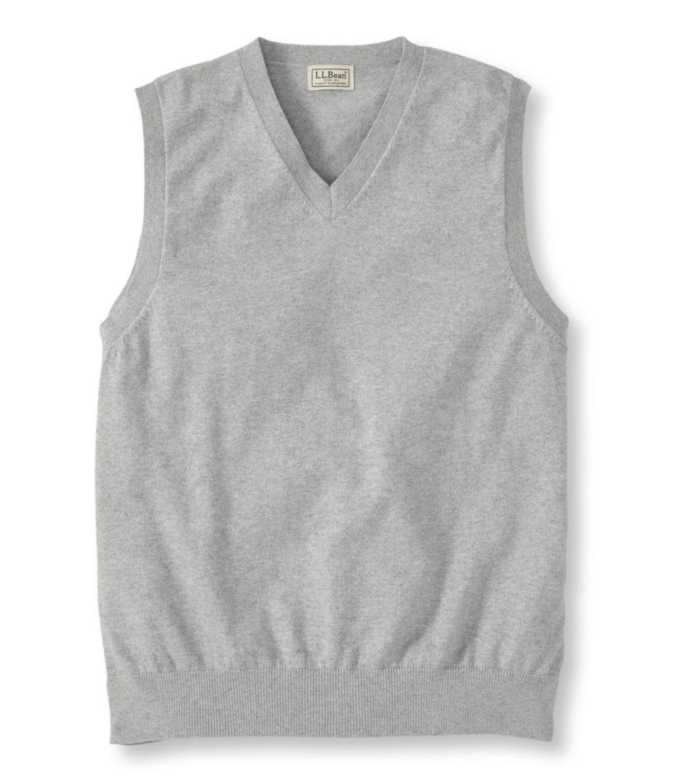 Mens Cottoncashmere Sweater V Neck Vest
