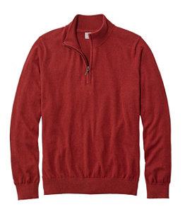 Men's Cotton/Cashmere Sweater, Quarter-Zip