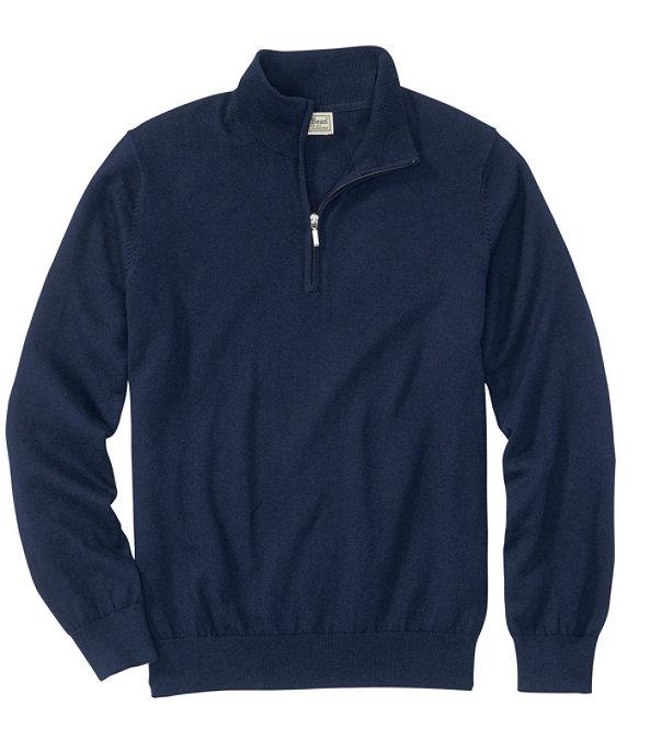 Men's Cotton Cashmere Quarter-Zip Sweater, , large image number 0
