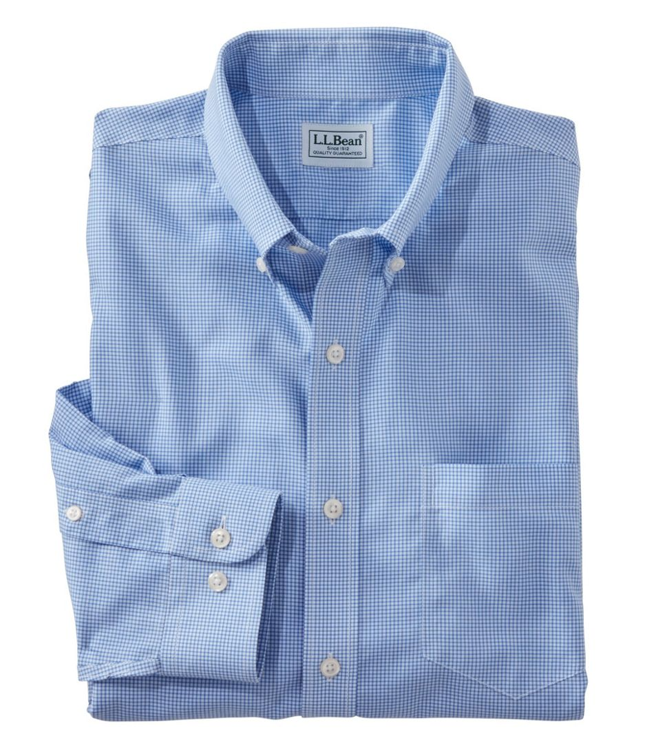 Wrinkle-Free Check Shirt, Traditional Fit