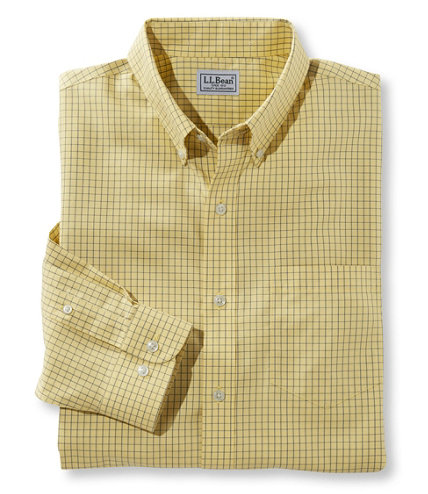 Men 39 s wrinkle free check shirt traditional fit free for Ll bean wrinkle resistant shirts