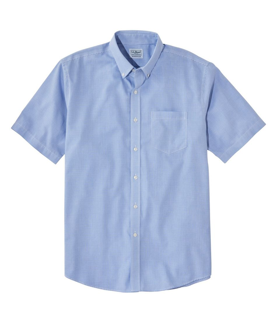 Men's Wrinkle-Free Check Shirt, Traditional Fit Short-Sleeve