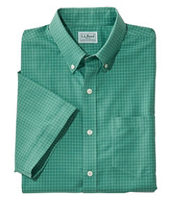 Wrinkle-Free Check Shirt, Traditional Fit Short-Sleeve