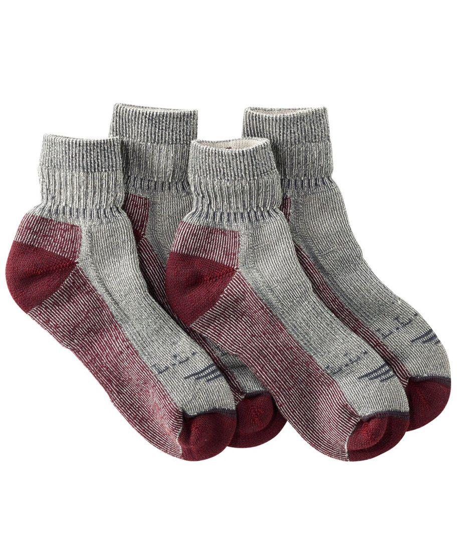 Cresta Hiking Socks, Midweight Quarter-Crew Two-Pack