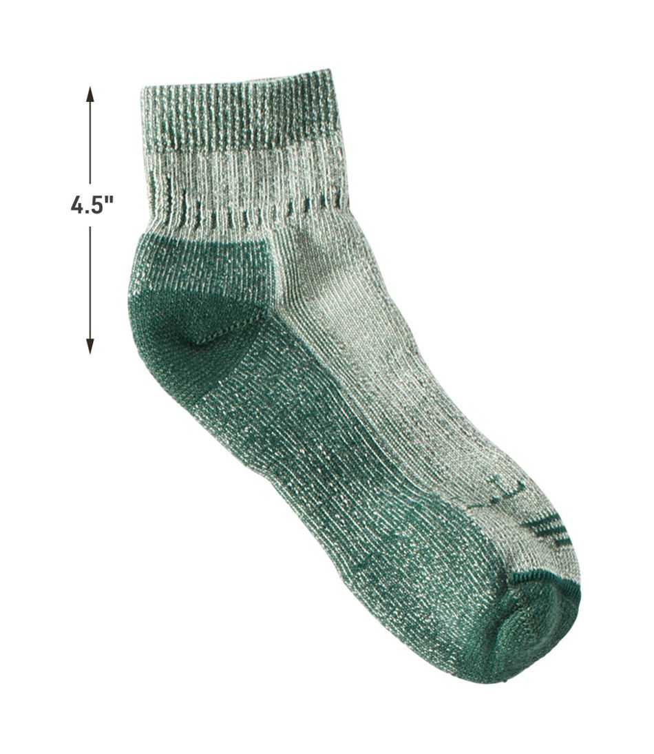Women's Wool-Blend Cresta Socks, Midweight Quarter-Crew One Pair