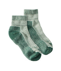 Women's Wool-Blend Cresta Socks, Midweight Quarter-Crew One Pair