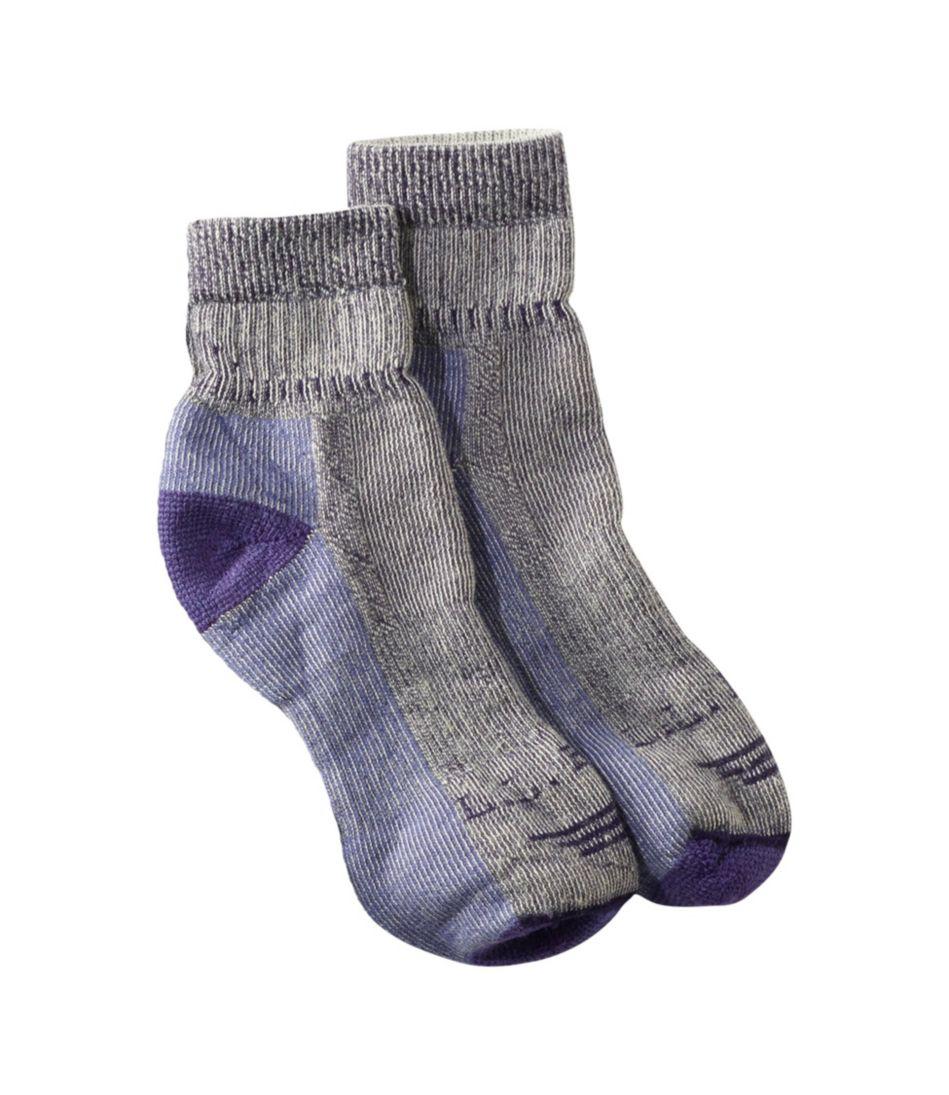 Adults' Wool-Blend Cresta Socks, Midweight Quarter-Crew One Pair