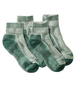 Cresta Wool-Blend Hiking Socks, Midweight Quarter-Crew Two-Pack