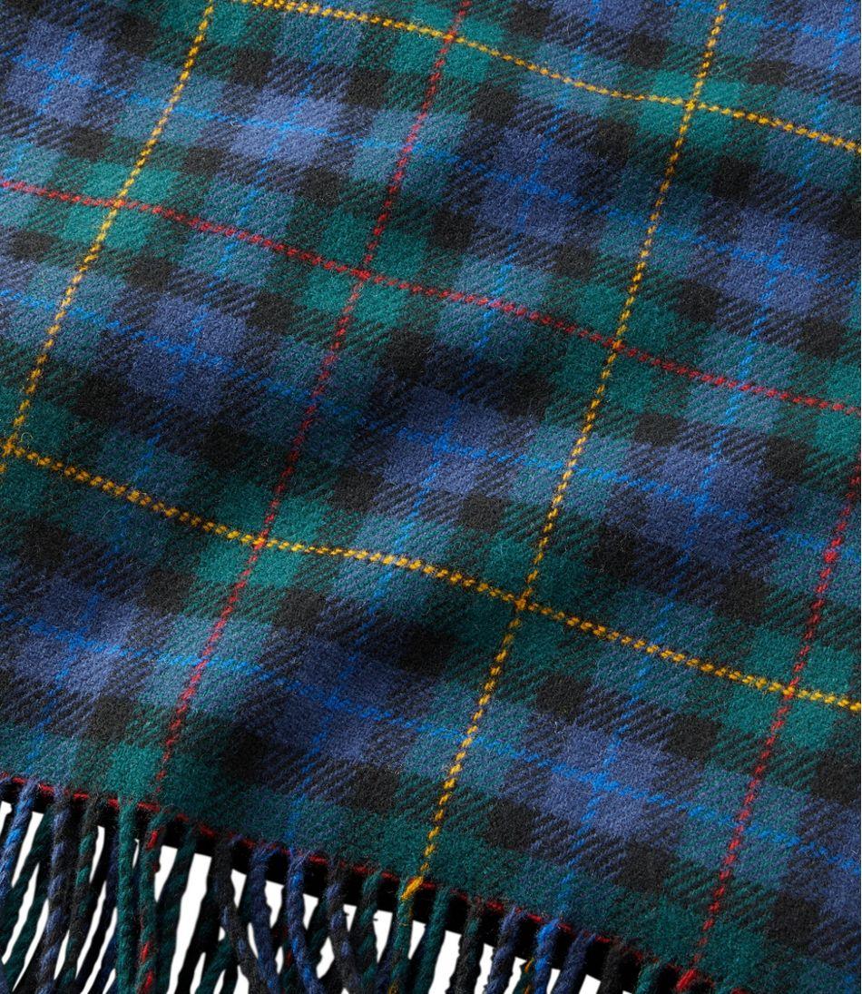 "L.L.Bean Washable Wool Throw, Plaid 54"" x 60"""