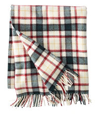 L.L.Bean Washable Wool Throw, Plaid 54
