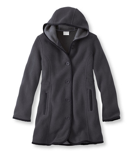 Kingfield Fleece Coat, Hooded | Free Shipping at L.L.Bean