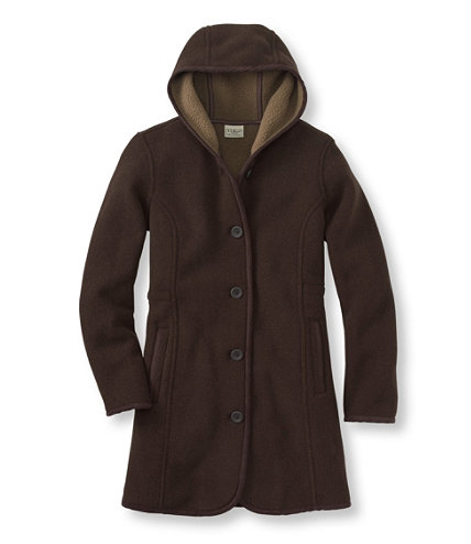 Kingfield Fleece Coat, Hooded | Free Shipping at L.L.Bean.