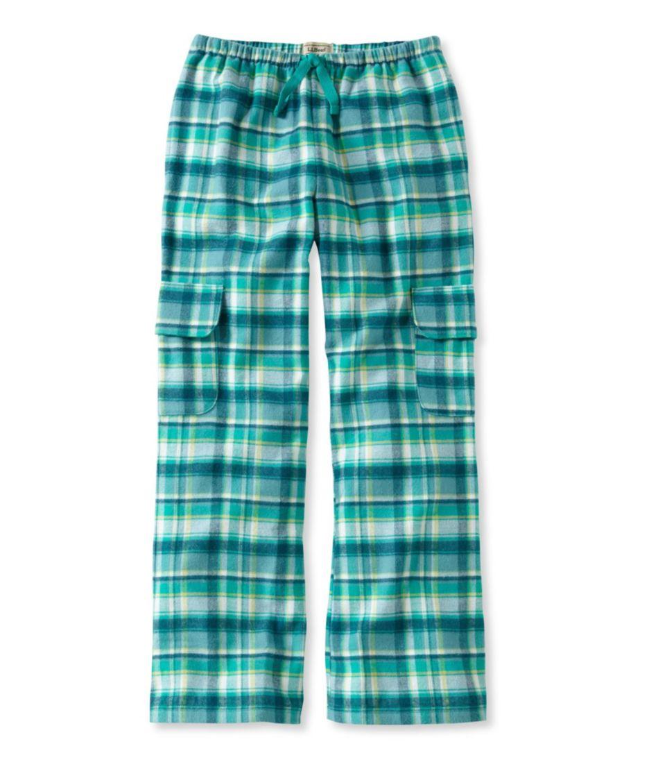 Girls' Flannel Cargo Pants