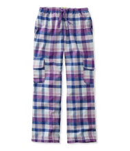 Girls' Flannel Cargo Pants